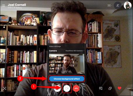 چطور پس زمینه تماس های تصویری اسکایپ را تغییر دهیم؟